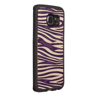 Grape Zebra Abstract Wood Phone Case