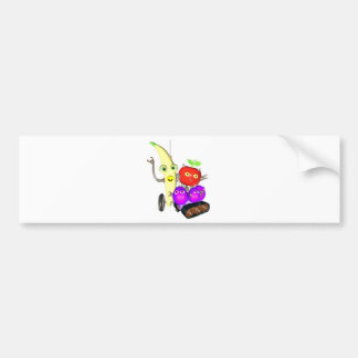 GrapeBot BananaBot Bumper Sticker