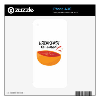 Grapefruit_Champs iPhone 4S Skins