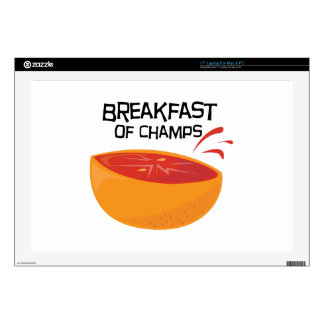 "Grapefruit_Champs Decal For 17"" Laptop"