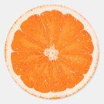 Grapefruit Classic Round Sticker