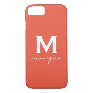 Grapefruit Orange-Pink Stylish Custom iPhone Case