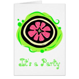 Grapefruit Pink Card