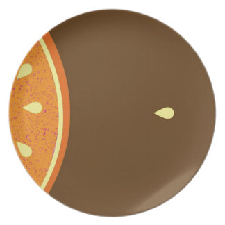 Grapefruit pip party plate
