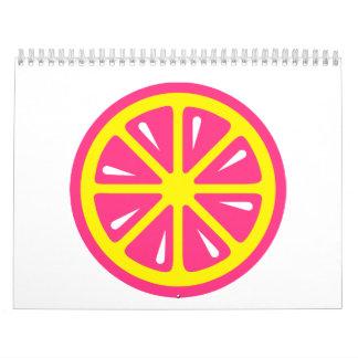 Grapefruit slice calendar