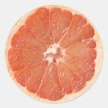 Grapefruit Slice Classic Round Sticker