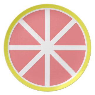 Grapefruit Slice Melamine Plate