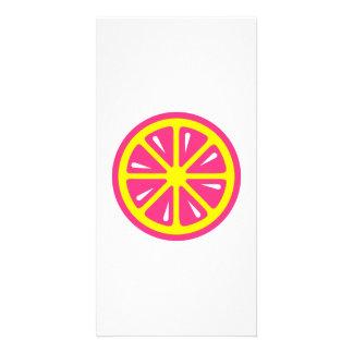 Grapefruit slice custom photo card