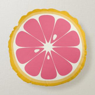 Grapefruit Slice Round Pillow