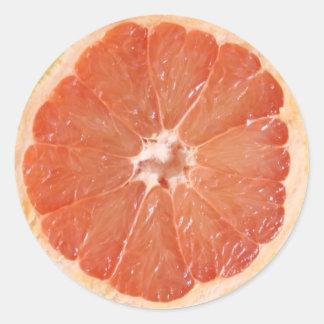 Grapefruit Slice Round Stickers