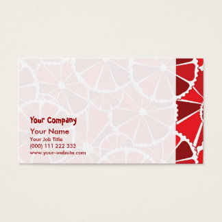 Grapefruit slices business card
