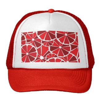 Grapefruit slices mesh hats
