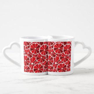 Grapefruit slices lovers mug sets