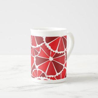 Grapefruit slices bone china mug