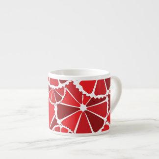 Grapefruit slices espresso mugs