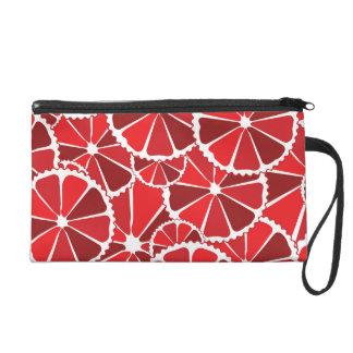 Grapefruit slices wristlet purse