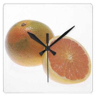 Grapefruit Square Wall Clock
