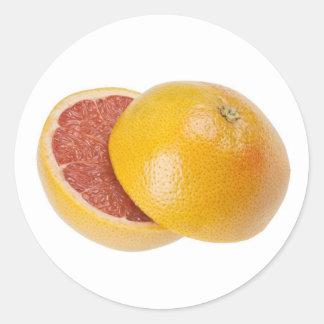 Grapefruit Round Stickers