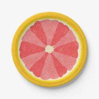 Grapefruit Summer Party Fruit Slice Paper Plate