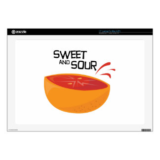 "Grapefruit_SweetSour Decal For 17"" Laptop"