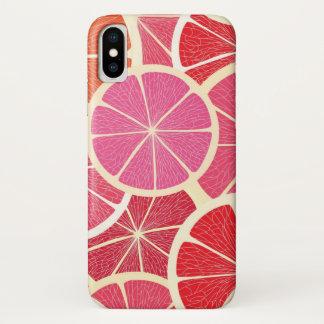 Grapefruit vintage background iPhone x case