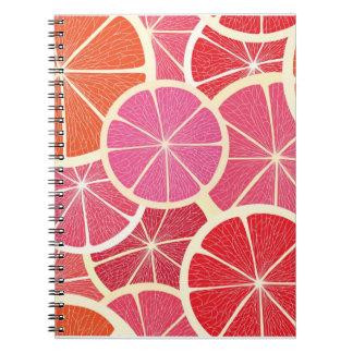 Grapefruit vintage background notebook