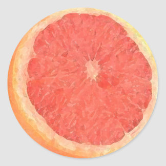 Grapefruit Watercolor - sticker