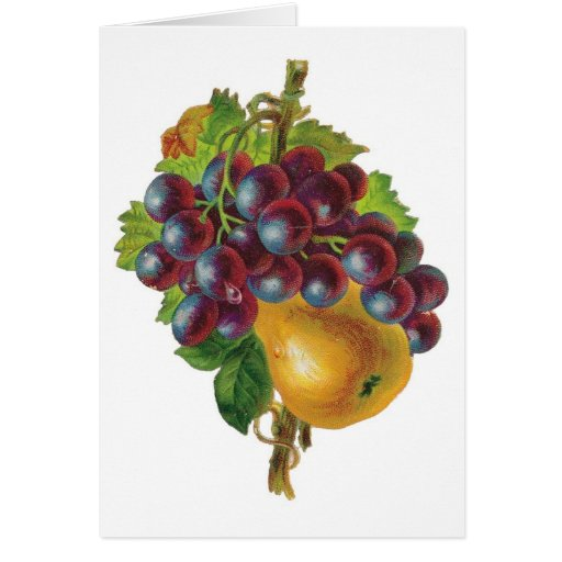 Grapes and A Pear Notecards Greeting Card