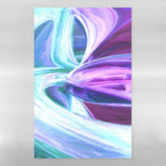 Grapes and Cream Pastel Abstract Magnetic Dry Erase Sheet
