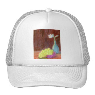 Grapes and Flower Still Life, Hat