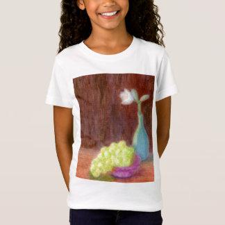 Grapes and Flower Still Life, Kid's Shirt/T-Shirt T-Shirt