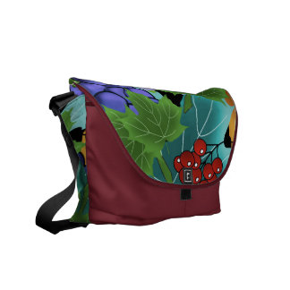 grapes and leaves courier bag