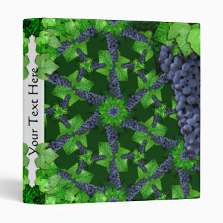 Grapes and Leaves Lg Any Color Binder