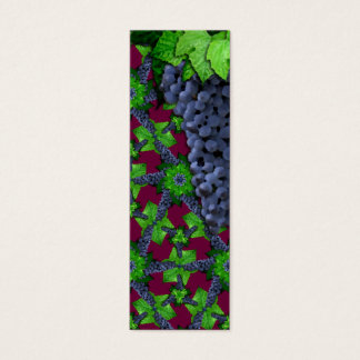 Grapes and Leaves Lg Any Color Bookmark Mini Business Card