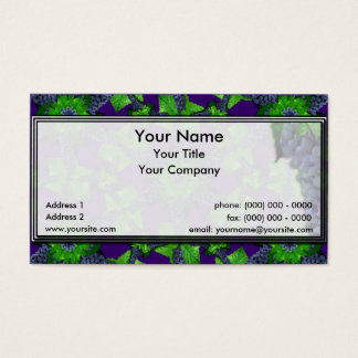 Grapes and Leaves Lg Any Color Business Card