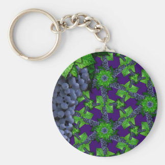 Grapes and Leaves Lg Any Color Keychain