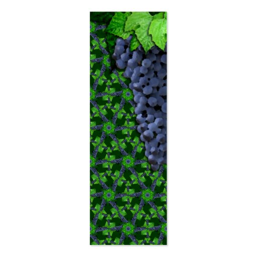 Grapes and Leaves Sm Any Color Bookmark Business Card