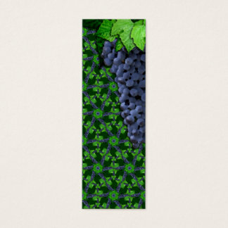 Grapes and Leaves Sm Any Color Bookmark Mini Business Card