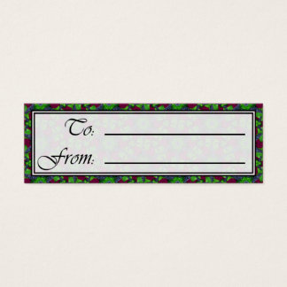 Grapes and Leaves Sm Any Color Gift Tag