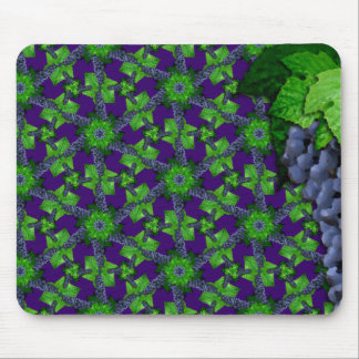 Grapes and Leaves Sm Any Color Mouse Pad