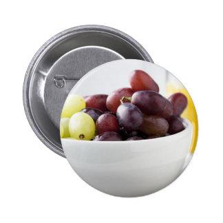 Grapes and Orange Juice Pinback Button