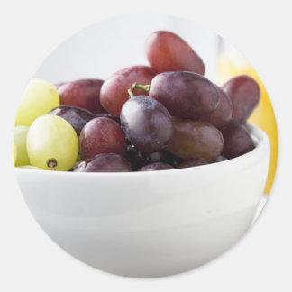 Grapes and Orange Juice Round Sticker