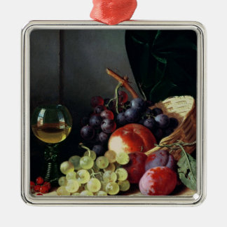 Grapes and plums metal ornament