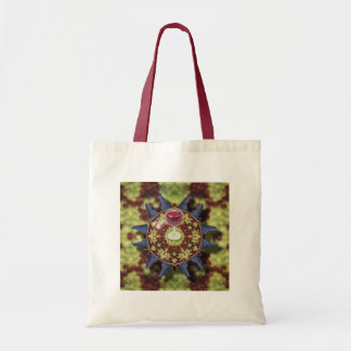 Grapes and wine budget tote bag