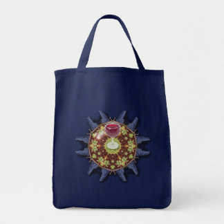 Grapes and wine grocery tote bag