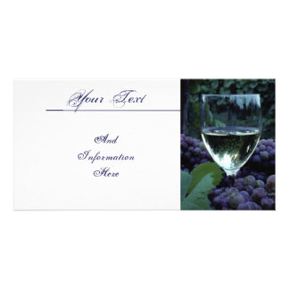 Grapes And Wine Photo Card