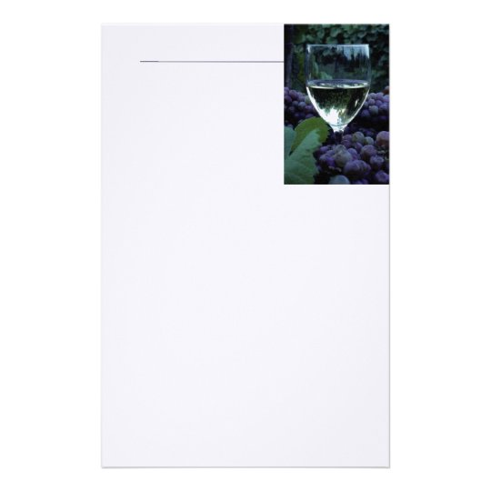 Grapes And Wine Stationery