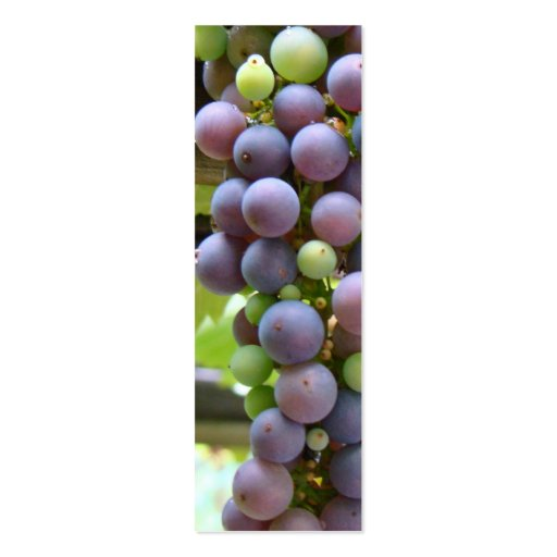 Grapes Bookmarks Double-Sided Mini Business Cards (Pack Of 20)