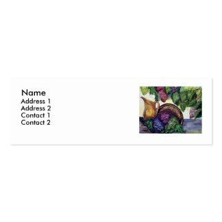 Grapes & Brass Pitcher Double-Sided Mini Business Cards (Pack Of 20)