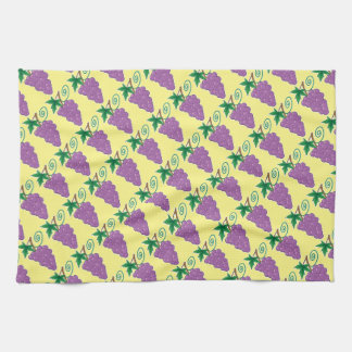 Grapes Bunch on Yellow Matching Towel